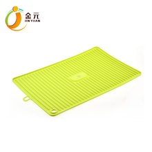 Custom personalized silicone heat resistant kitchen counter mat dish table drying mat