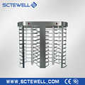 stainless steel gate design full height turnstile with access control