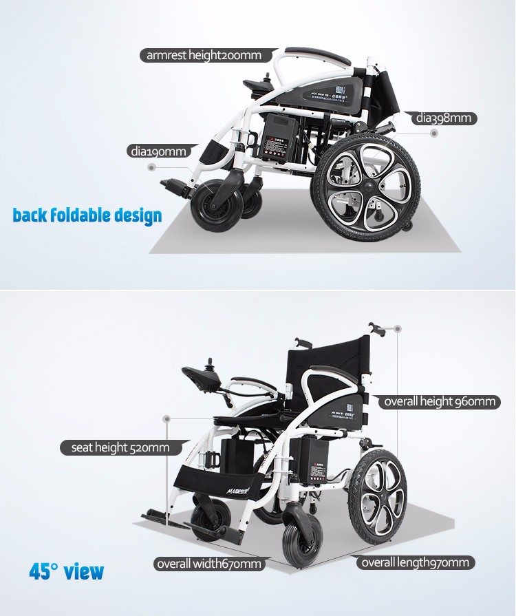 Medical lightweight folding disabled power electric wheelchair with cheap price(2).jpg