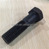 hex head a307 bolt galvanized black