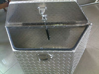 Aluminum trailer tool box , custom aluminum Truck tool box with embossed aluminum plate