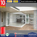 Aluminium corner Bi Folding Interior Door with DOuble Glazed Glass and AS2047, AS/NZS 2208