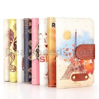 Cross Pattern Wallet Style Magnetic Flip Stand Brown PC+PU Leather Case for iPhone 4/4S(Sexy Bra Pattern)
