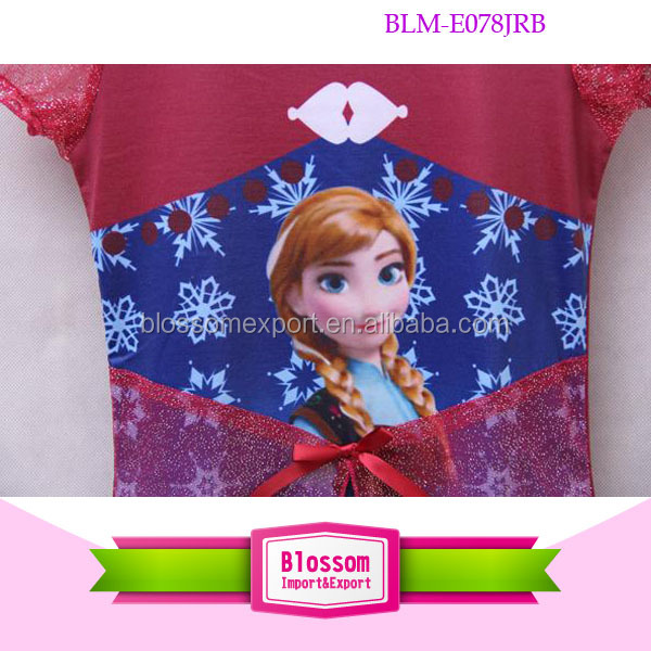 Hot sell ! baby girl summer dress frozen elsa dress children