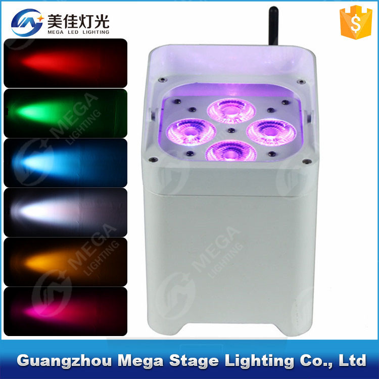 4x18w 6in1 wedding used stage uplight wireless battery led lights