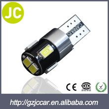 High quality 12v 168 194 501 t10 canbus parking light bulbs w5w 5630smd 6led White auto led