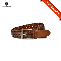 Handmade Braided Mens Custom Leather Best Brand Name Belt