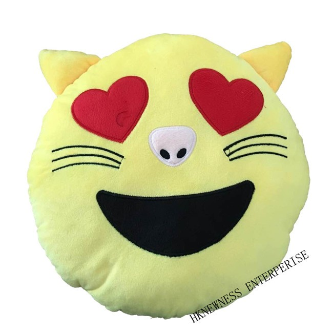 emotion custom printing decorative whats app plush emoji pillow