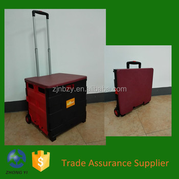 2017 Two-Wheeled Collapsible Handcart with Red Lid