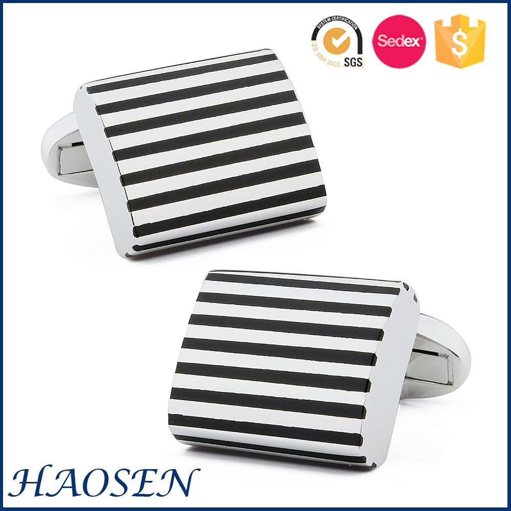 Top Sale High Quality Black Enamel Brand Expensive Cufflinks