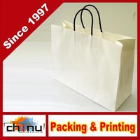 "White Small Paper Gift Handle Bags Approx. 5.25"" x 3"" x 8.5"" Size Shopper Wedding Wholesale Lot(220060)"