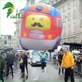 Large Lovely Advertising Floating Car With Helium / Parade Display Flying PVC Bus Car Inflatable Model