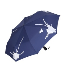 Color Changing Umbrella Vinyl Folding Sunscreen Rubber Handle Male Women'S Fully-Automatic Water Sun Protection Umbrella