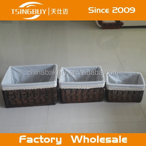 High quality wholesale 100% natural craft decoration storage small or large baby pram hamper wicker basket for