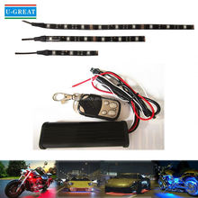 Magic color programable 10pcs 5050smd motorcycle led wheel light for wholesales