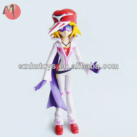 3d plastic cartoon figure sexy girl toy