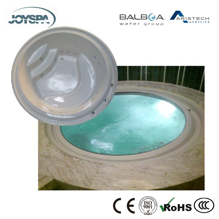 Best Hot Sale Acrylic Round Shape Affordable In Ground Hot Tubs Prices JY8010