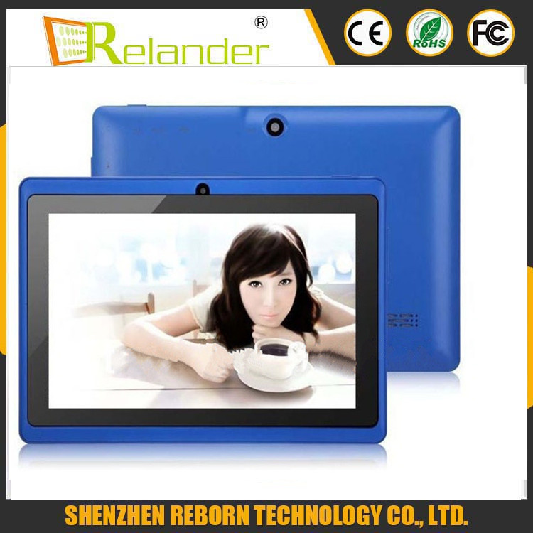 "7"" A33 WiFi Bluetooth Google Android 4.4 Quad Core Dual Cameras 8GB Tablet PC"