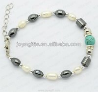 Magnetic Anklet locking stainless steel bracelet