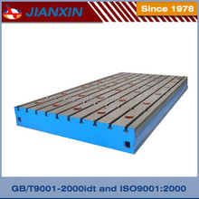 Precision testing custom cast iron welding floor plates with slots