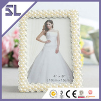 Happy Birthday Photo Frame Mini Picture Frame Rhinestone Pearl Frame For Home Decoration Made in China