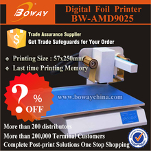 Thermal heat hot gold silver foil stamping digital printer for plastic