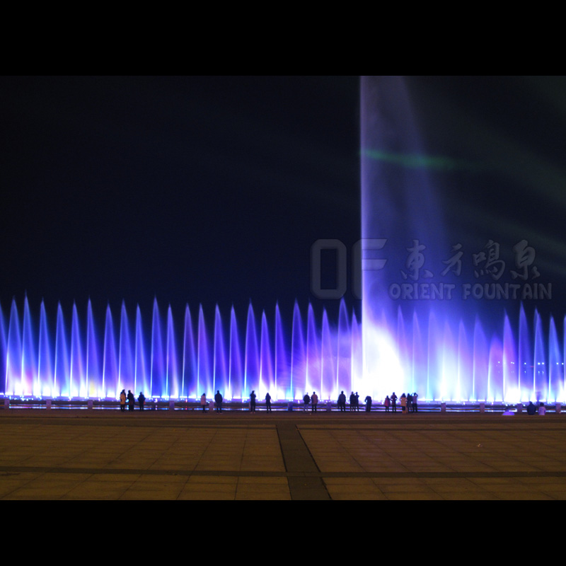 laser music fountain with 100m high spray
