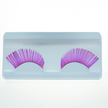 Pro High Quality Hand Made Red Color Feather False Eyelashes