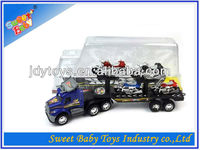 Toys Trailer Truck With 4 Free Wheel Motorcycles