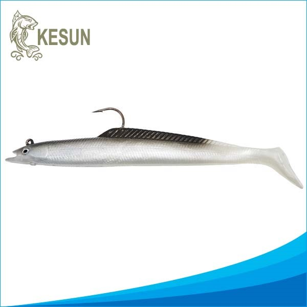 100/140/180/230mm soft fishing lure rattle Tail Jig Bass Bait for freshwater saltwater