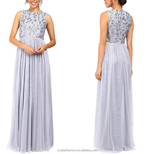 Chinese Wholesale pleated Sequin Lady Dress Luxury Women Dresses Sexy