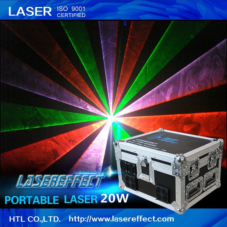 20W RGB portable laser light for performance theater and traveling laser show