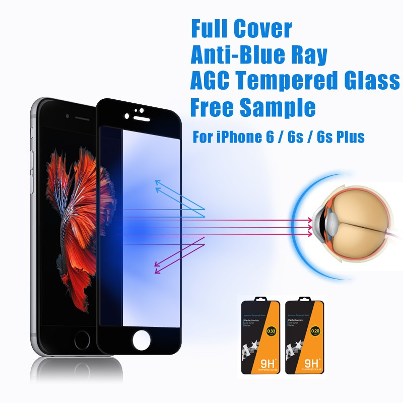 Hotsale Japanese blue light film anti reflection lcd protector film for iPhone 6 & 6s (BC)