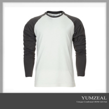 Long sleeve two tone t shirt Custom Men tshirt printing t shirt