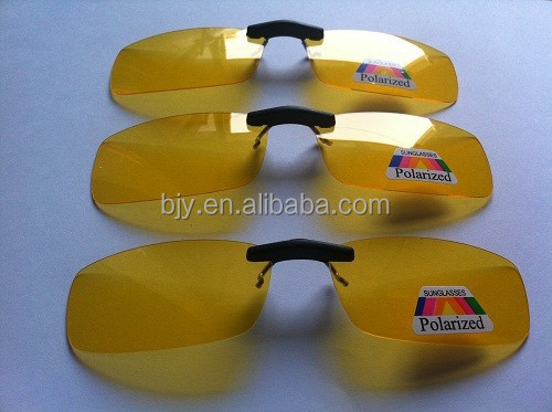 Yellow color Polarized Lens Sunglasses Clip On Myopia Glasses For Man Woman Night Driving Best ploarized sunglasses