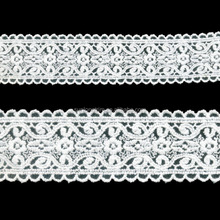 Cotton lace product type 4cm wide french cotton embroidery lace