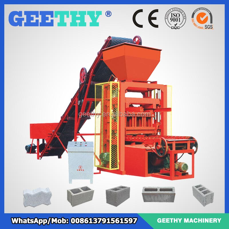 brick manufacturing equipment QTJ4-26 cement block forming machine brick making machine price list