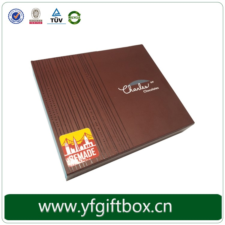 Printed chocolate box wholesale high grade fancy design chocolate candy packaging