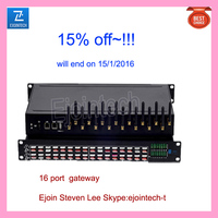 15% discount end on 15,1,2016 Ejoin 16 port VOIP gateway suppot SIP gateway