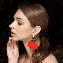 Wholesale Fashion Women Earrings 2017 Statement Gold Plated Jewelry Cheap Silk Tassel Earrings
