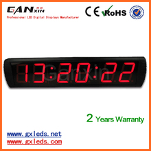 [Ganxin]4inch 6digit 7segment red screen low voltage led clock