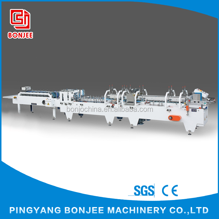 Bonjee Cheap Automatic Folding Carton / French Fries Cardboard Box Gluing Machine
