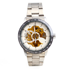 New Full Automation Men Stainless Steel Material Mechanical Watch Wholesale