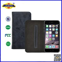 360 degree rotating universal wallet leather phone case with magnetic