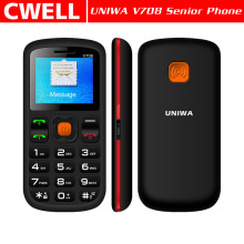 In Stock!!! Low Price UNIWA V708 1.77 Inch Dual SIM Card Big Button SOS Function Handphone