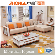 living room classical style l shaped wooden fabric sofa set pictures of sofa designs