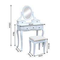 Wholesale cheap price wooden makeup vanity dressing table