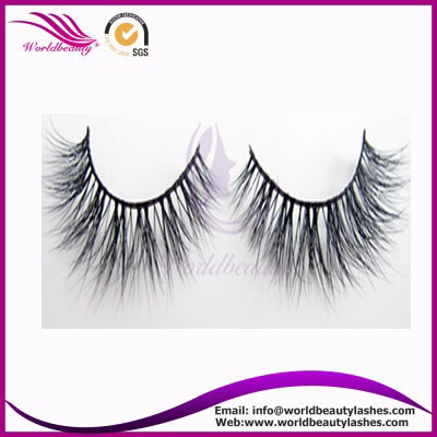 logo on the package authentic 3D mink fur strip lashes