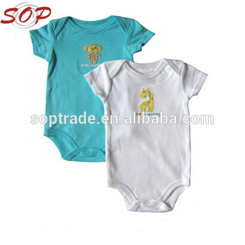 Wholesale Toddler Short Sleeve Romper Organic Baby Boy Clothes
