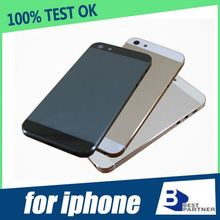 Factory price for iphone 5 Gold Back Cover Housing With Small Parts